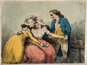 Medizinischer Aderlass im Jahr 1784