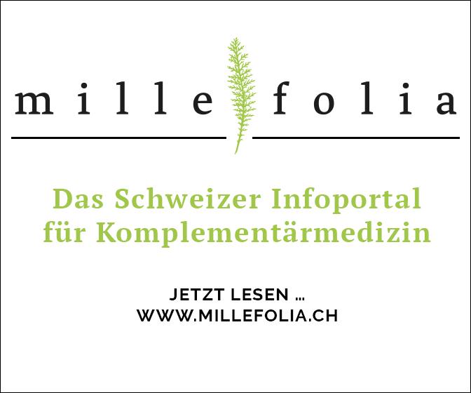 Link auf www.millefolia.ch, Das Schweizer News-Portal für Komplementärmedizin